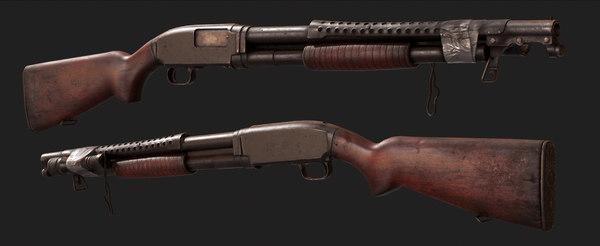 m12 trench gun 3D model