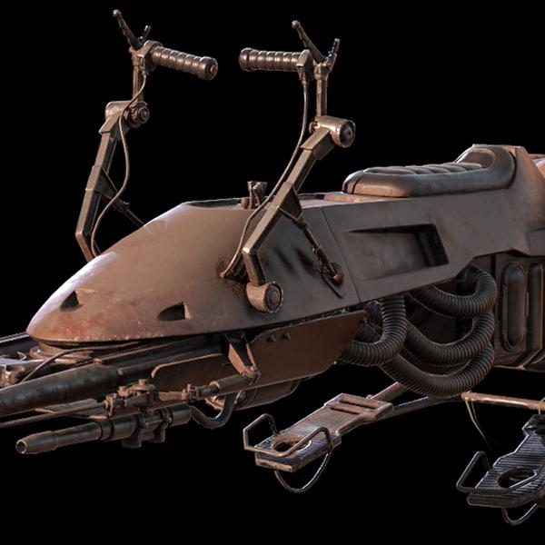 74-z imperial speeder bike 3D model