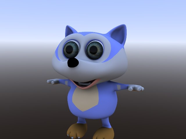 3D wolve volk cartoon model