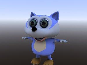 3D wolve volk cartoon model