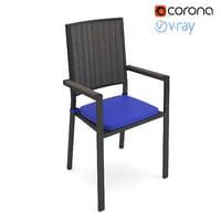 3D realistic alfresco counter stool model