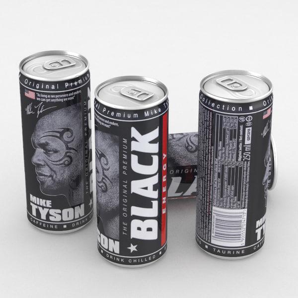 3D beverage black energy model