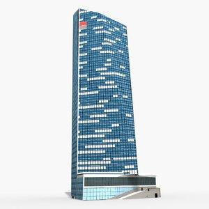 3D paris-granite tower