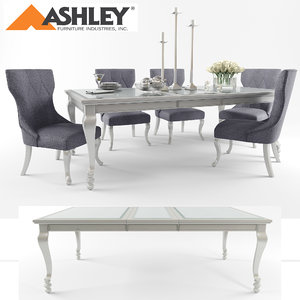 ashley furniture table chair 3D model