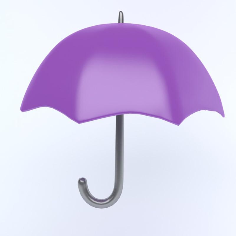 umbrella icon 3D