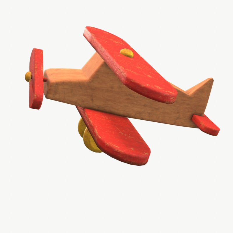 old toy airplane 3D