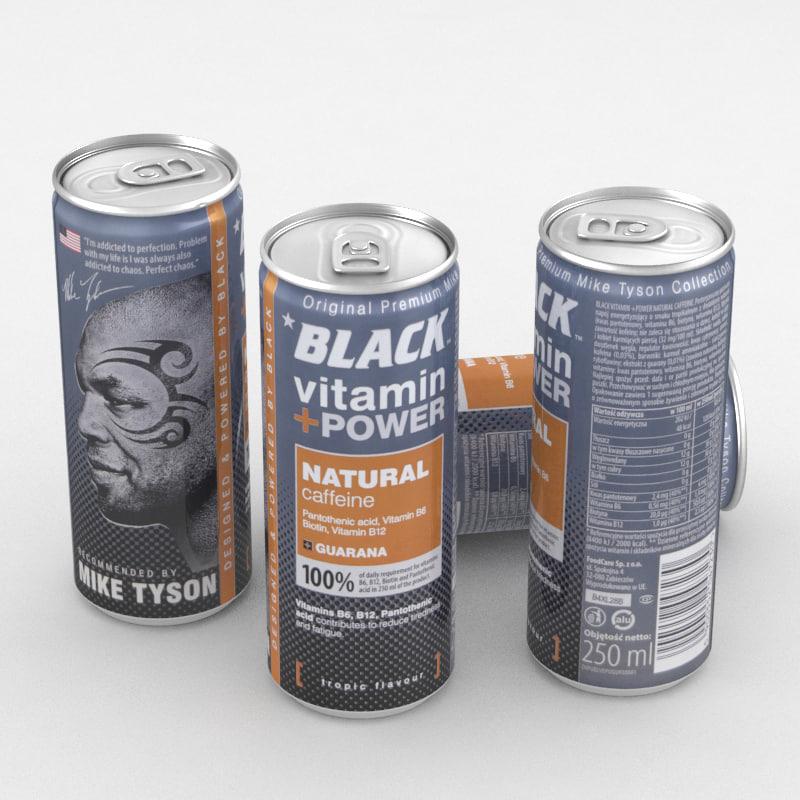 beverage black vitamin 3D model
