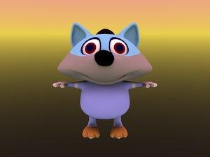 3D koyote cartoon funny model