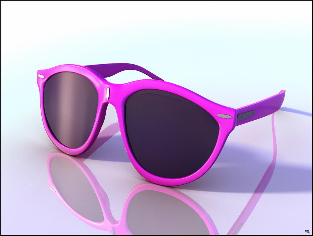 glasses sun sunglass 3D model