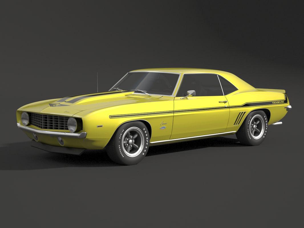 1969 camaro z28 3D model