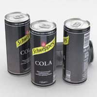 3D beverage schweppes cola