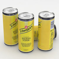 Beverage Can Schweppes Bitter Indian Tonic 330ml Tall 2017