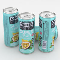 beverage oshee vitamin 3D model
