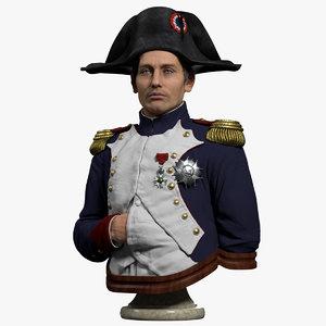 napoleon bust 3D
