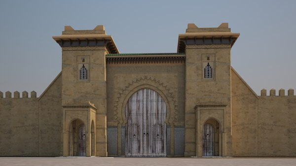 gate andalous 3D model