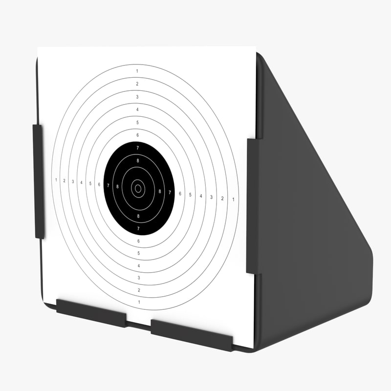 target stand card 3D