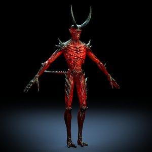3D demon rig skinny