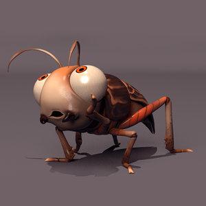 rig cricket 3D model