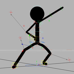 stick rigged 3D model