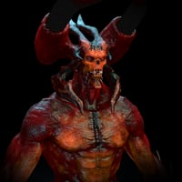 3D demon rig model