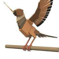 Boxy Bird Maya Rig
