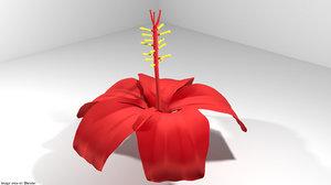 3D flower hibiscus