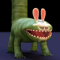 bunny eater rig 3D