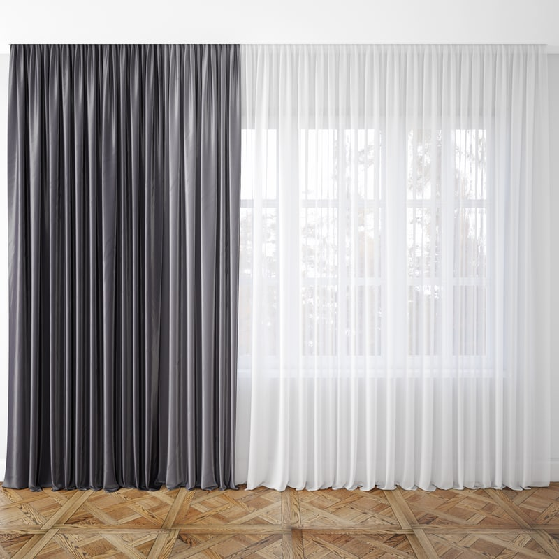 3D curtain shaded model