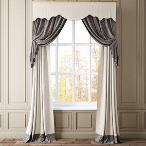 3D curtain shaded