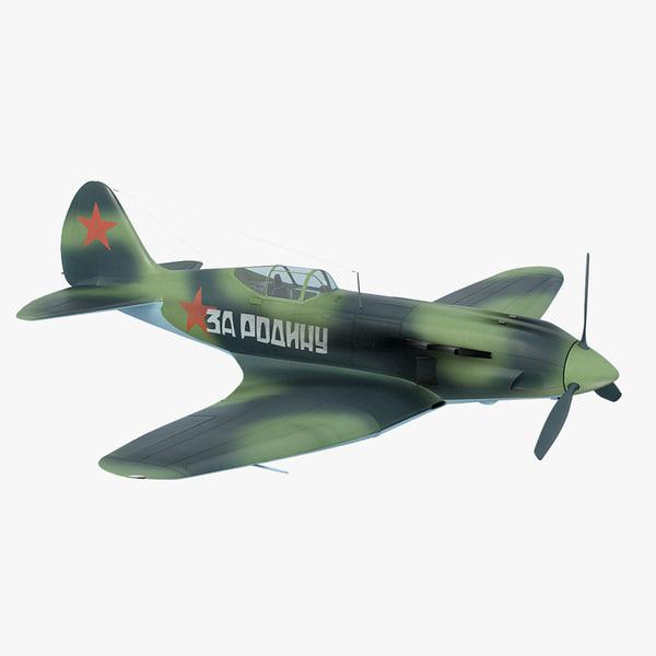 mig-3 soviet fighter interceptor model