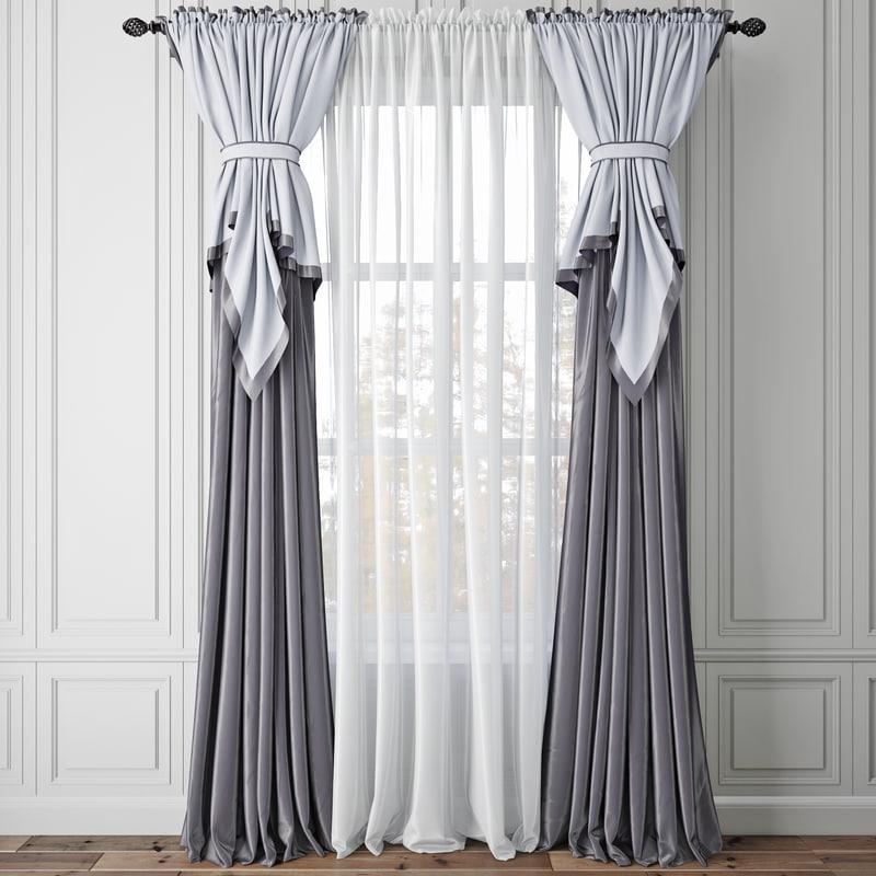 curtain shaded 3D model