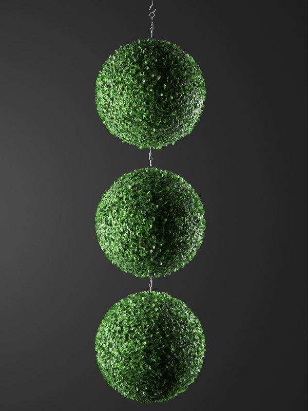 3D indoor hanging plants model