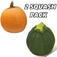 pumpkin zucchini fruits 3D model
