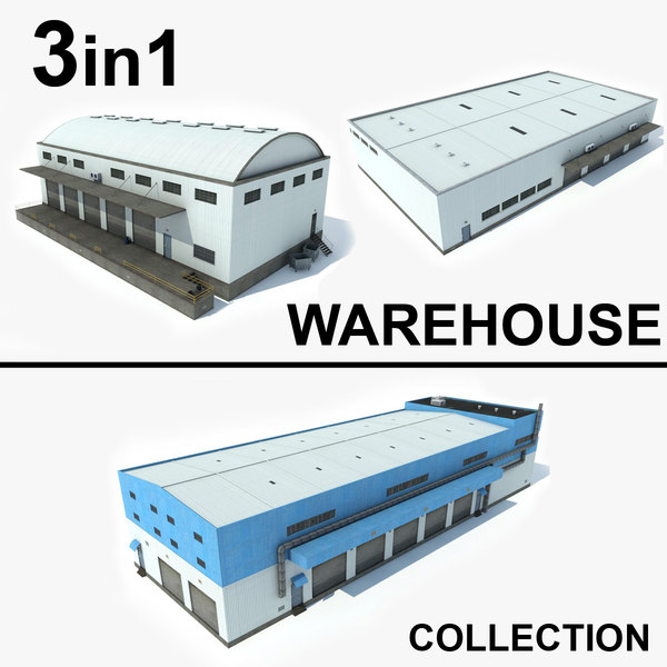 3 warehouse 1 3D model