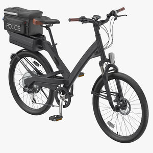 police bike rigged model