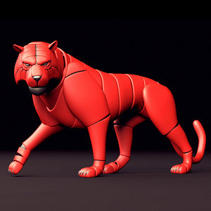 tiger cat mechanic rig 3D model