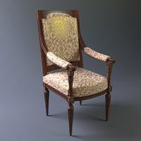 3D royal chair