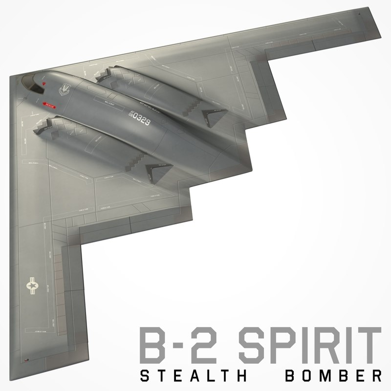 3D spirit sealth bomber