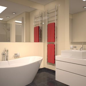 modern bathroom scene 3D model