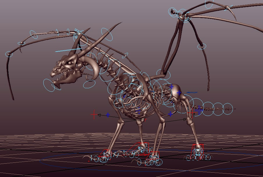 Free skeleton dragon rig 3D model - TurboSquid 1182497