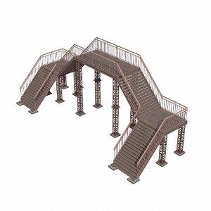 3D metal pedestrain bridge