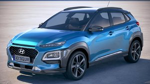 hyundai kona 2018 3D model