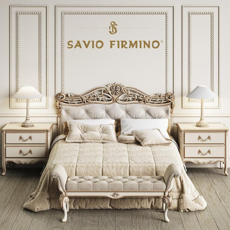 3D savio firmino 1773 bedroom model
