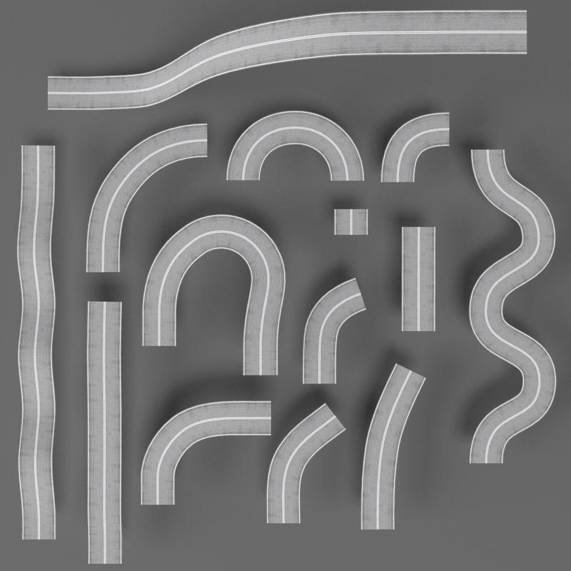 ready road constructor 3D model