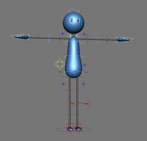 stick man 3D model