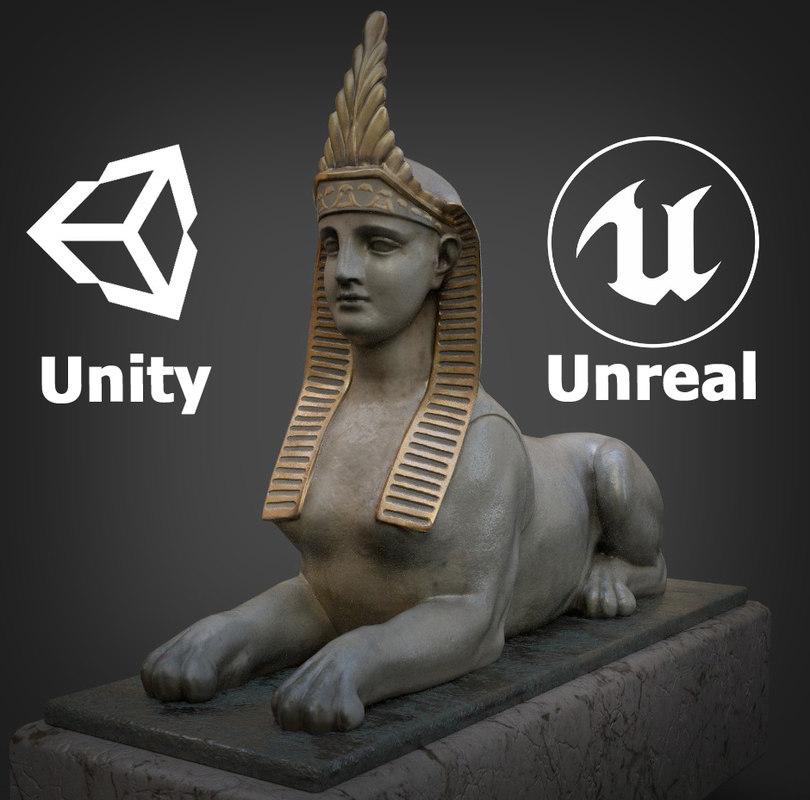 sphinx sculpture 3D model