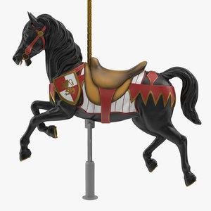 3D carousel horse v10