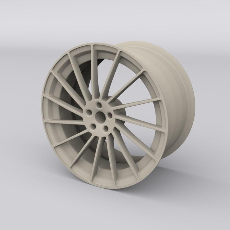 3D model concept car rim