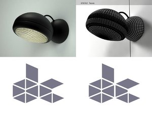 3D stand wall lamp model