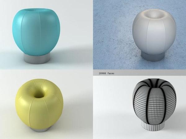 q stool 3D model